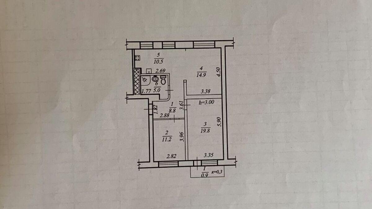 продам 3-комнатную квартиру Днепр, ул.Яворницького, 6 - Фото 5