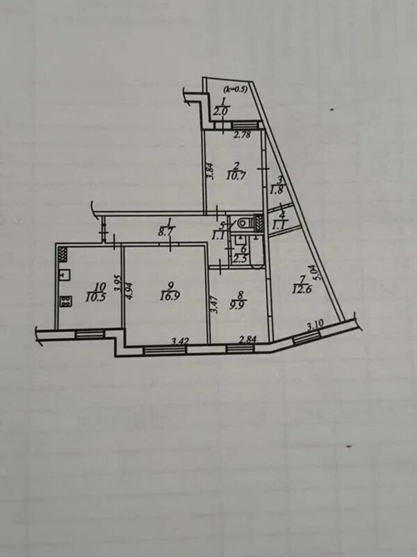 продам 4-комнатную квартиру Днепр, ул.пр.Героев, 35 - Фото 1