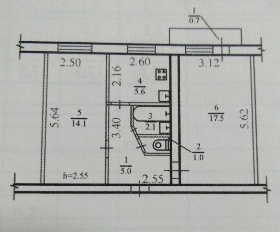 продам 2-комнатную квартиру Днепр, ул.Юрия Савченка, 97 - Фото 1