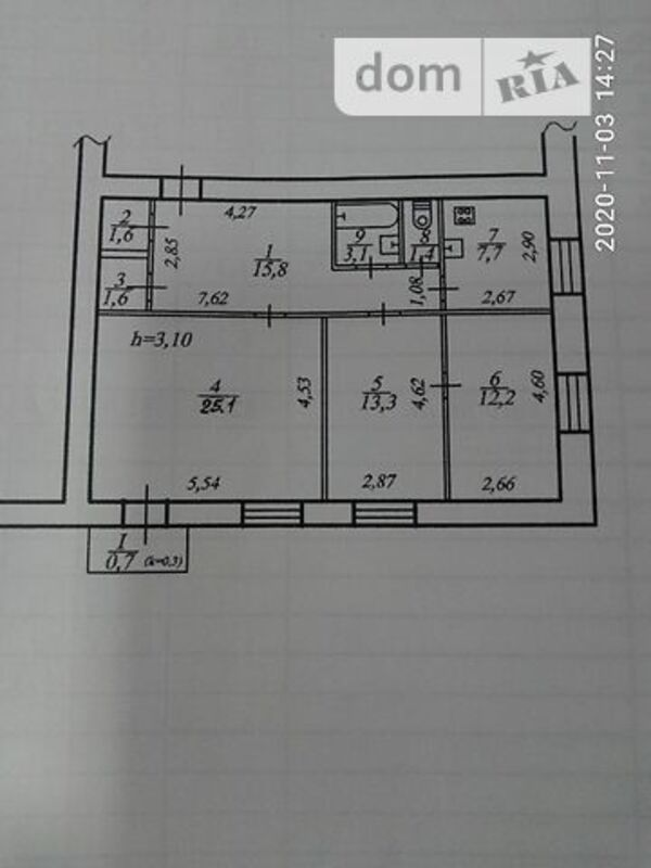 продам 3-комнатную квартиру Днепр, ул.Телевизионная , 1а - Фото 1