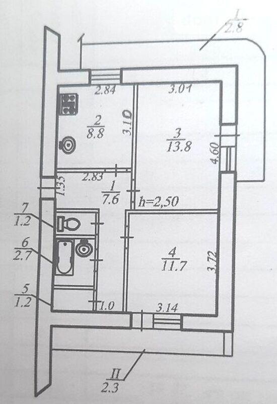продам 2-комнатную квартиру Днепр, ул.Владимира Вернадского, 35 - Фото 1