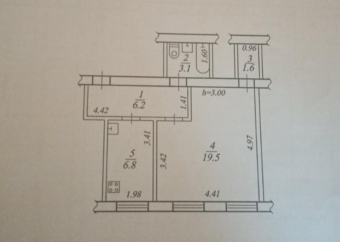 продам 1-комнатную квартиру Днепр, ул.Каменская , 27 - Фото 1